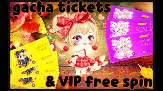 LINE Play - Gacha Ticket Spins & September VIP Mini Free Spin (6 Tickets)