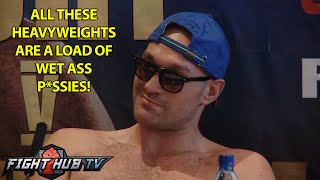 Tyson Fury vs Alexander Ustinov- press conference highlights- Extreme language warning