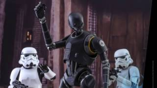 Rogue One Star Wars Hot Toys K-2SO 1/6 Scale Movie Figure Reveal!