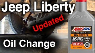 UPDATED Jeep Liberty Oil Change AMSOIL XL 5W-30 Synthetic Oil and Engine & Transmission Flush