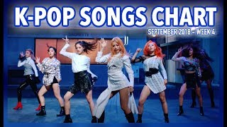 K-POP SONGS CHART   SEPTEMBER 2018 (WEEK 4)