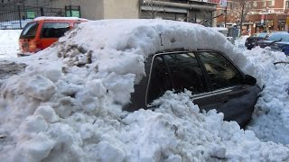 How To Get Your Car Out Of The Snow Without a Shovel !!!