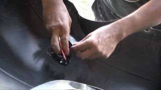 All the steps in a plastic bumper repair and paint