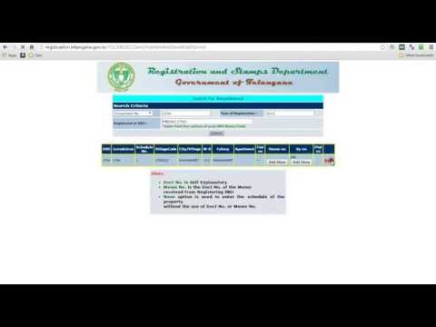 How to Search EC Online - State of Telangana & AP - India