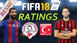 Fifa 18 Ratingleri (Resmi)  - Türkiye Ligi ve Gurbetçiler