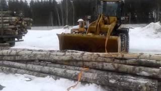 Дрова 6 метровые - прктически в ручную ПРР лесовоза 32 м3 за 5 часов_Часть2