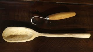 Carving A Spoon With A Hook Knife