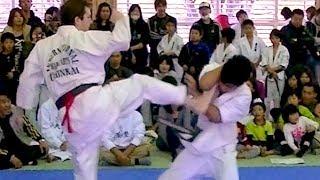 KARATE TOURNAMENT IN KURUME Japanese Karate, full contact, bare knuckle fighting.