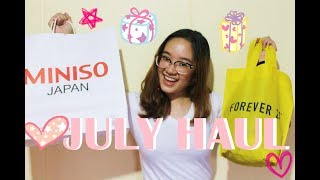 Miniso, Forever 21 and Etude House Haul | Philippines