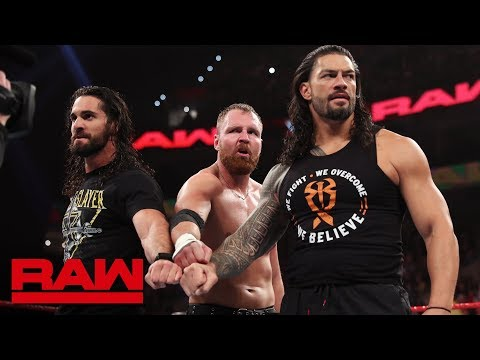 Xxx Mp4 Roman Reigns Seth Rollins And Dean Ambrose Reunite As The Shield Raw March 4 2019 3gp Sex