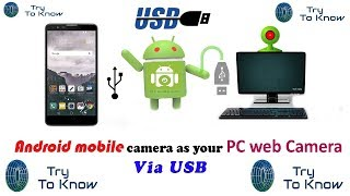 How to use android mobile as PC web cam Bangla Tutorial