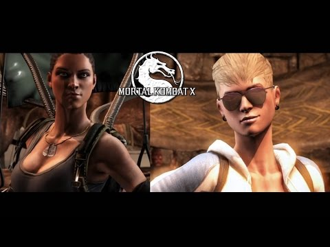 STAGE BRUTALITY! - Cassie Cage vs. Jacqui Briggs - Sexy Mortal Kombat X Fight