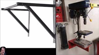 How To Make a Wall Mount Drill Press Stand From Scrap Metal