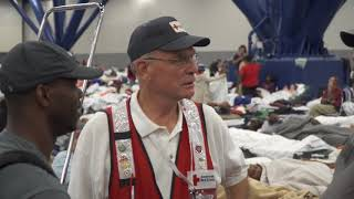 Volunteers work long and hard at shelters in Houston to make sure residents are comfortable