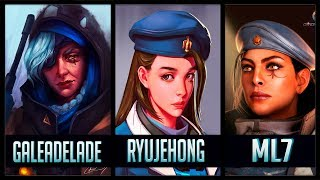 ML7 vs Ryujehong vs GaleAdelade - Gods of Ana 😱 | Overwatch Moments