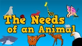 The Needs of an Animal   (song for kids about 4 things animals need to survive)