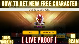 FREE FIRE : HOW TO GET FREE CHARACTER WUKONG (MONKEY KING) | LIVE PROOF [Hindi]