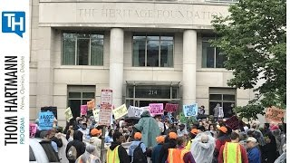 1000 Protestors Stormed the Heritage Foundation, Did You Hear About it from the Corporate Media?