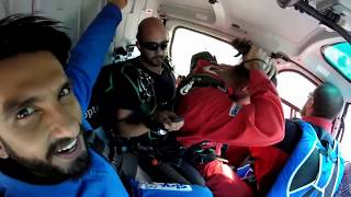 Ranveer Singh Helicopter Skydive.. Interlaken Swiss Alps