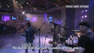 Bmvnvietsub Bruno Mars  It Will Rain Live On The Ellen Degeneres Show