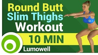 10 Minute Butt and Thigh Workout At Home