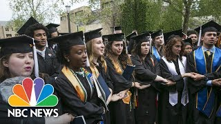 Notre Dame Students Walk Out During VP Mike Pence's Graduation Speech | NBC News
