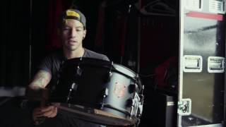 Josh Dun Unboxing the new Crowd Snare - His latest signature SJC snare!