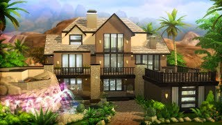 BASE GAME PARTY MANSION l Sims 4 House Building