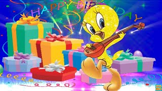 Happy Birthday  Song for kids with Tweety Bird