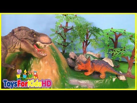 Videos de Dinosaurios para niños - Las Mejores Luchas de Dinosaurios de juguete #2 ToysForKidsHD