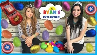 Easter Eggs Surprise Hunt Playtime at the Park Disney Cars Surprise Toys Challenge  Ryan ToysReview