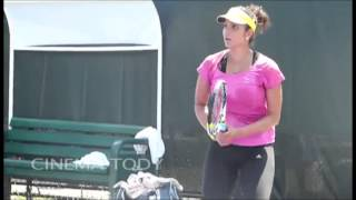 Sania Mirza practice 2015 Exclusive Video