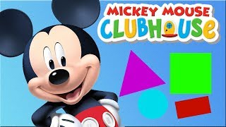 Mickey Mouse Clubhouse- Toddlers Learn Colors Shapes Numbers With Mickey - Disney Junior Kids
