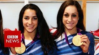 Gold medallists face their abuser - BBC News