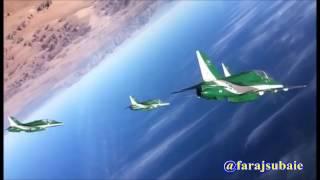 صقور الجو تصوير من داخل قمره طائرة الصقور الخضر السعودي