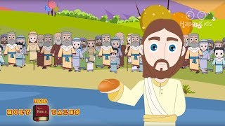 Jesus Feeds the Five Thousand I New Testament StoriesI  Bible Stories  Holy Tales Bible Stories