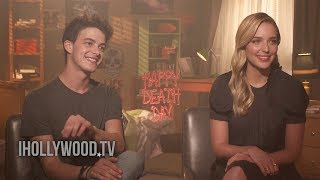 HAPPY DEATH DAY - Jessica Rothe & Israel Broussard Interview (2017) Horror Movie HD