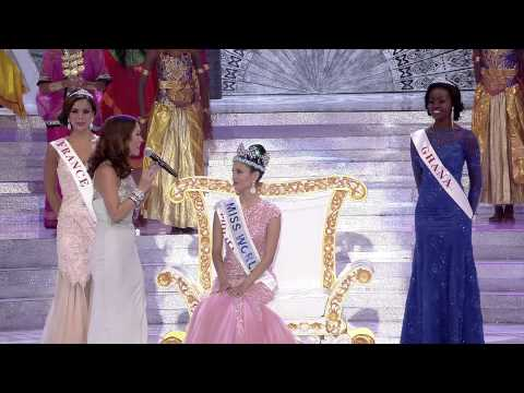 Miss World 2013 Official Crowning of Megan Young