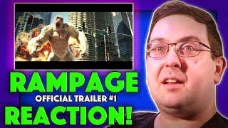 REACTION! Rampage Trailer #1 - Dwayne Johnson Movie 2018