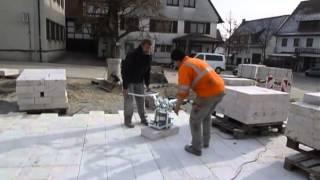 PROBST SPEEDY VS-140 Vakuum-Handverlegegerät - Verlegung von Travertin-Bodenplatten in Wangen