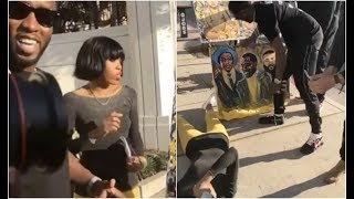 Artist Passes Out After Diddy and Dj Khaled Buy All Her Paintings