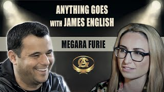 James English meets Dominatrix Megara Furie on the Anything Goes Podcast Show.