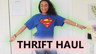 A Thrift Haul... FINALLY | TRY ON | BEST Summer Finds 2018