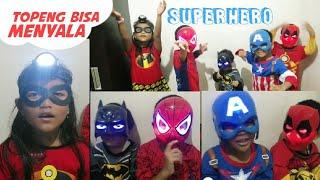 Topeng Superhero Bisa Menyala Keren   LED Glowing Superhero Mask