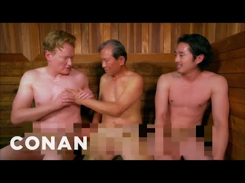 Xxx Mp4 Steven Yeun Amp Conan Visit A Korean Spa CONAN On TBS 3gp Sex
