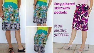 How to sew an easy Summer Pleated Skirt