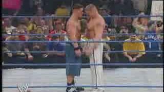 Brock Lesnar destroy John cena