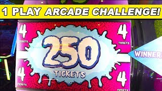THE 1 PLAY ARCADE GAME CHALLENGE!