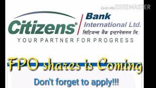 Citizens Bank FPO | Nepali Share market