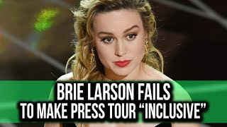 Brie Larson (kinda fails) to make CAPTAIN MARVEL press tour inclusive